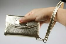 iPhone 4 4S Phone Case | Wallet Clutch Wristlet Purse Credit Card Slot (Gold)