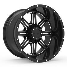 Gear Alloy Big Block 20X12 8X6.50 -44et Black Mill Wheels Rims