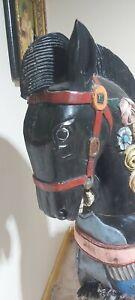 Vintage wood  decorative carousel horse