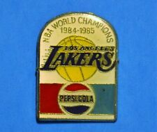 PEPSI COLA - LOS ANGELES LAKERS NBA 1984-85 WORLD CHAMPIONS -  VINTAGE LAPEL PIN