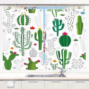 """Mexican Cactus Flower Plant Kitchen Curtains Window Drapes 2 Panels Set 55x39"""""""