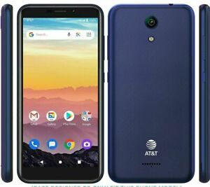 AT&T Calypso Smartphone 5.5-inch, 4G LTE Android 10 16GB Blue Factory Unlocked