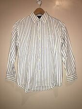 Gap Kids Boys Shirt White With Blue Stripes Size 10 Years<NH575