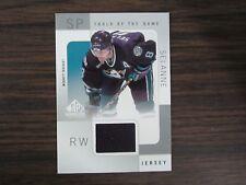 2000-01 SP Game Used Hockey #TS Teemu Selanne Jersey Card (B7) Anaheim Ducks