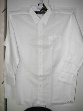 WHITE OXFORD 21 1/2 X 37  DRESS SHIRT  EASY FIT 60% COTTON/40% POLYESTER NIP