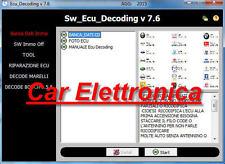 SW_Ecu_DECODING V7.6.4  SCODIFICA  & RIPARAZIONE ECU 2016