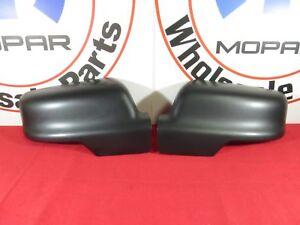 DODGE RAM 1500 Driver&Passenger LH/RH Side Mirror Cover Black NEW OEM MOPAR