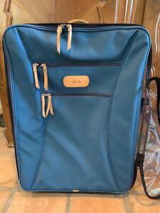 Jon Hart Wheeled Rolling Suitcase Luggage Large Blue Bag & Protective Cover; XL