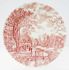 Vintage Johnson Brothers Cotswold Pink Dinner Plate