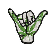 Hang Ten Loose Hand, Shaka Sign, Surf Surfer Embroidered Patch Iron-On / Sew On