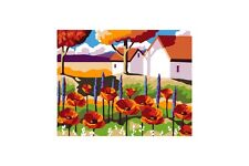 PAINT BY NUMBERS KIT GARDEN WITH POPPIES