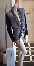Joseph Ribkoff BNWT UK 18 Magnificent Black &Taupe Stretch Jersey Jacket-Divine!