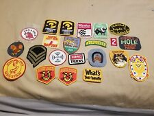 Vintage Patch Lot Sheriff Military Jerry Lewis and More