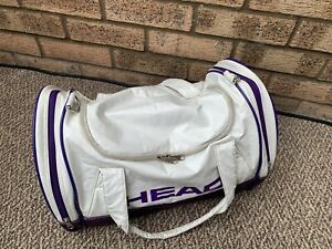 HEAD Vintage Small Gym Sports Bag / Holdall Metallic White & Purple