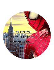 SPIDERMAN cake Edible Image Personalised Birthday Decoration Party Topper