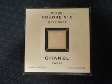 Very Rare CHANEL No. 5 Perfumed Face Powder Unused Sealed No. 5001 Ocre Dore