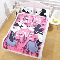 Disney Kids Bedding Set Mickey Minnie Love Couple Duvet Cover Set Pillowcase