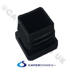 Plastic Square End Cap Hole Blank For Stainless Steel Square Table Legs 30X30Mm