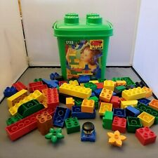 LEGO DUPLO Lot  78 pcs Green Storage Container Ages 1.5 - 5  Basics