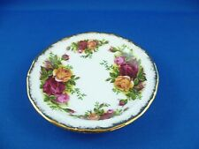 PRETTY VINTAGE BUTTER  DISH / COASTER  OLD COUNTRY ROSES ROYAL ALBERT ENGLAND