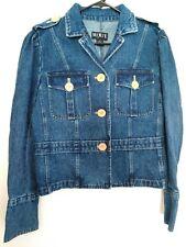 Women's Size 12 Medium/Large Mixit Button Up Heavy Cotton Blue Jean Denim Jacket