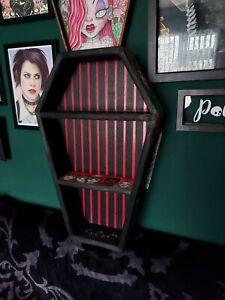 2ft Handmade Coffin shelves Stranger Things inspo gothic  Geeky wall decor.