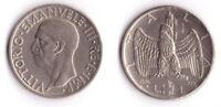 1936 Vittorio Emanuele III Lire 1 Impero Rara Nichelio Discreta