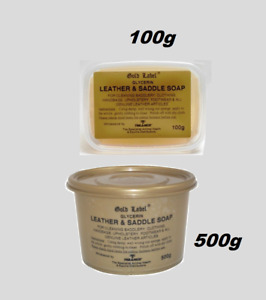 GOLD LABEL SADDLE SOAP Glycerin Cleaning Leather Care 100 & 500G