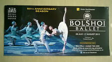 Royal Opera House. Bolshoi ballet Flyer. 2013.