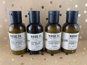 Le Labo Rose 31 Travel Size 1.4 oz Shampoo, Conditioner, Shower Gel & Lotion New