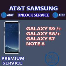 UNLOCK CODE SERVICE AT&T SAMSUNG GALAXY S9 S8 S7 PLUS NOTE 8 5 PREMIUM SM-G955U