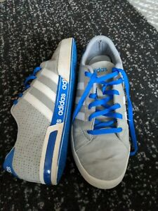 Adidas Neo Trainers Size 9 grey blue mens shoes
