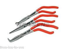 """3 Piece 11"""" Pistol Grip Long Reach Pliers Set  - Hose Cable Long Nose Pliers"""