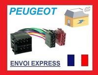 Cable ADAPTATEUR CONVERTISSEUR ISO AUTORADIO PEUGEOT 106 206 306 307 405 406 607