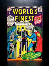 COMICS: DC: World's Finest #156 (1966), 1st Bizarro Batman app - RARE (superman)