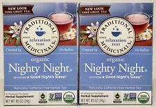 Organic NIGHTY NIGHT 32 Tea Bags Traditional Medicinals 2020 Chamomile Sleep NEW