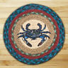 """BLUE CRAB 100% Natural Braided Jute Swatch, 10"""" Trivet/Placemat, by Earth Rugs"""