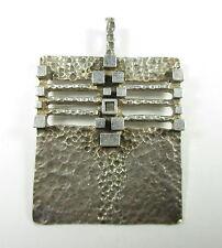 Silber Anhänger Vintage 60er 70er Modernist OLY RELO TEKA ART =* BoHo N4