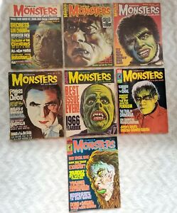 7 VINTAGE ISSUES FAMOUS MONSTERS Of FILMLAND Magazines 1964 WARREN  Horror