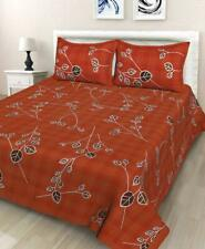Rajasthani Jaipuri Traditional King Size Double Bed Bedsheet with 2 Pillow Cover