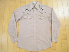 Native Motif! 90s vtg Kennington grey Shirt western pearl snaps Cowboy Medium