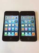 Lot of 2x Apple iPod Touch 4th Generation Black (8GB) - Cracked Screen