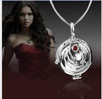 Vampire Diaries Elena Antique 925 Sterling Silver Necklace Vervain Pendant