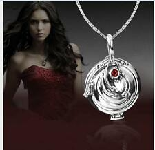 Vampire Diaries Elena Antique 925 Sterling Silver Necklace Vervain Pendant