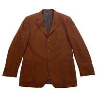 Ermenegildo Zegna Blazer Suit Jacket | Vintage Designer Wool Cashmere Brown VTG
