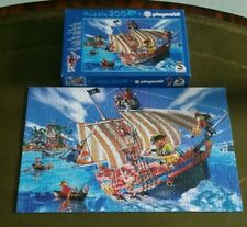 LOVELY PLAYMOBIL Schmidt PIRATES SHIP JIGSAW PUZZLE 200 piece complete