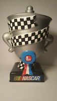NASCAR CERAMIC VICTORY CUP COOKIE JAR. RARE! OFFICIAL LICENSED PRODUCT. EXC COND