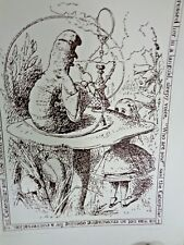 """Alice in Wonderland - Original Etching - """"Advice from a Caterpillar"""" - by Ann P."""