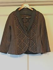 L. O'Neil Design Lotus Jacquard Single Button Leaf Pattern Jacket was $475