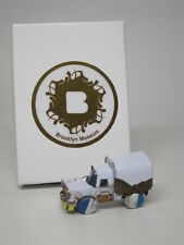 Handmade Covered Truck Recycled tin can Model Toy Car White Brooklyn Museum NEW